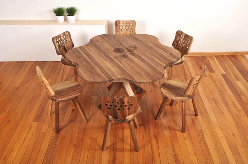 Étkezőasztal székekkel – asztalos Diósd