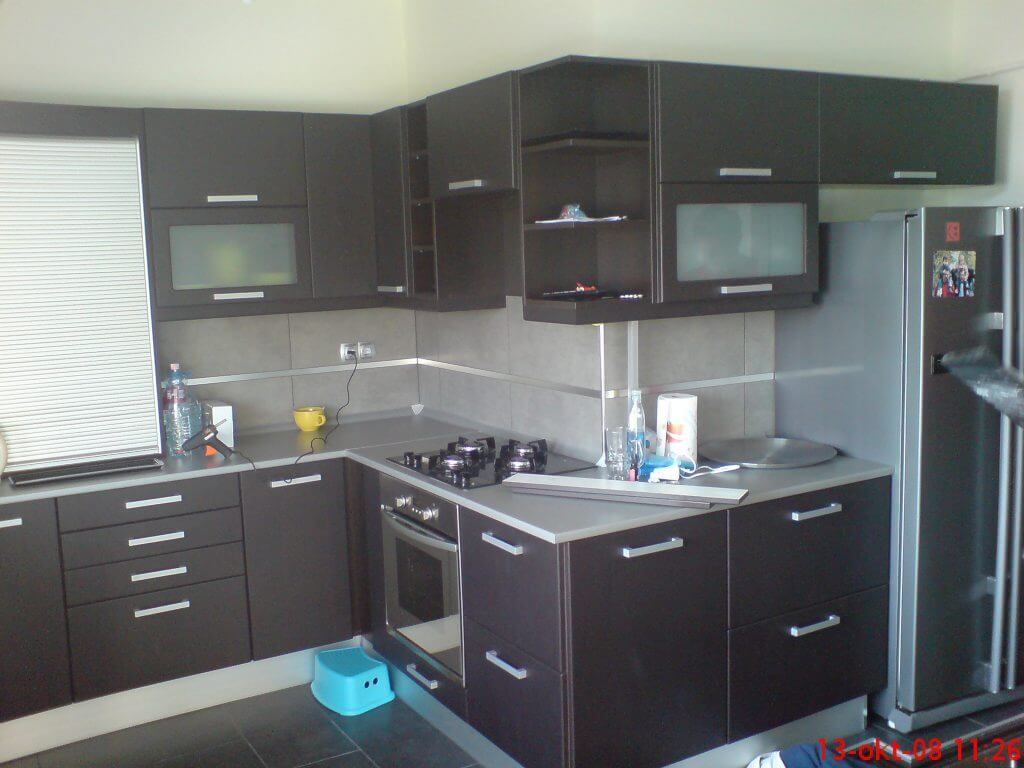 Modern stílusú konyhabútor I. kerület Anna utca