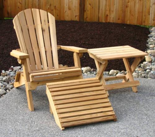 kerti szék lábtartóval